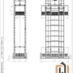 Чертеж четырехмачтового подъемника ПК «Подъемное Оборудование»