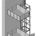 Эскиз подъемника с боковым креплением ПК «Подъемное Оборудование»