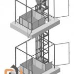 Эскиз одномачтового грузового подъемника ПК «Подъемное Оборудование»