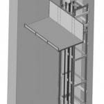 Чертеж одномачтового грузового подъемника ПК «Подъемное Оборудование»