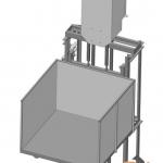 Чертеж малого грузового подъемника ПК «Подъемное Оборудование»