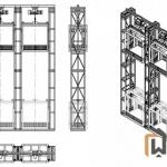 Эскиз трехмачтового подъемника ПК «Подъемное Оборудование»