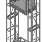 Эскиз двухмачтового подъемника ПК «Подъемное Оборудование»